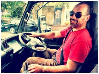 Ben Driving truck