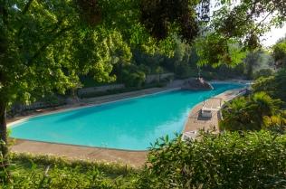 Piscina (pool) Tupahue (local swimming pool) in the Parque Metropolitano de Santiago