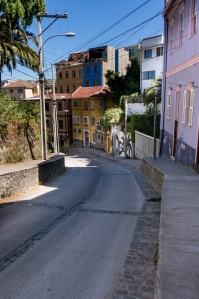 A typical street on Cerro Alegre