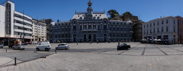 The main plaza in Valparaiso