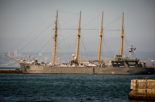 The latest in Chilean Naval technology ... the battle schooner.