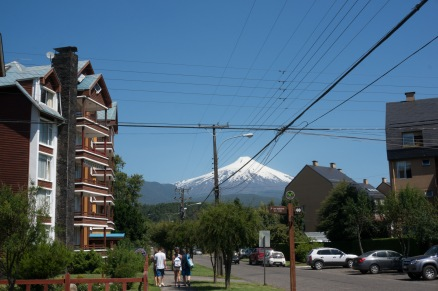 Villarica dominates over the town so everywhere you walk there is the volcano in the distance.