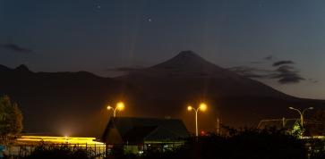 Villarica Volcano by night