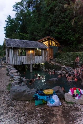 The Los Pozones termas (hot spring)