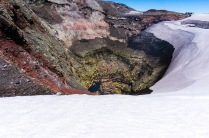 The crater of the volcano. It smelt like Ben's farts.