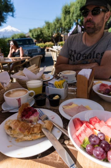 Our last day in Pucon and we celebrated with a grande breakfast.