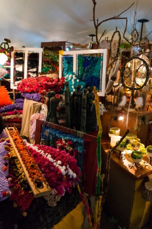 Vibrant colours at the craft market.