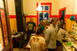 Nights in the kitchen of our hostel in Puerto Varas were always social. We loved it here.
