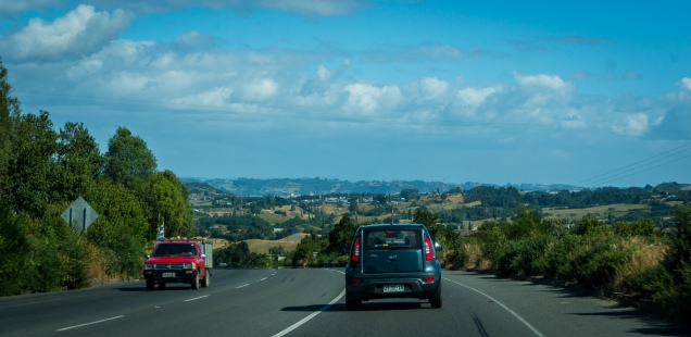 """Scenery heading to Castro. Michelle's standard comment throughout the trip """"doesn't this remind you of...."""""""