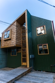Renovated palafito house. Interesting architecture for these tiny spaces.