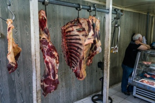 A butcher shop in Castro. Nothing like getting up close and personal with your dinner.