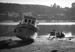 Morning light during low tide, Castro.