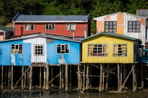 Some of the remaining Palafitos in Castro