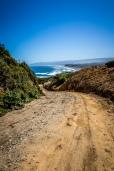 The rugged coastline on the west coast of Chiloe, near Cucao