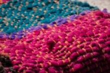 Handmade mats at Dalcahue craft fair.