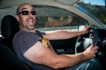 Ben confidently handles left hand side driving.