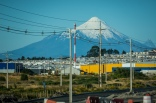 Driving back through Puerto Montt, the volcano is ever-present.