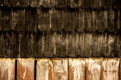 Typical shingles made in this region for the chalets.